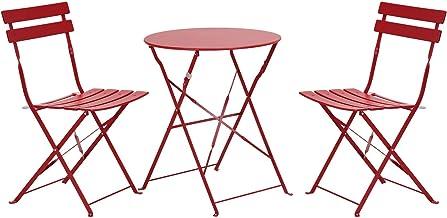 Grand patio Premium Steel Patio Bistro Set, Folding Outdoor Patio Furniture Sets, 3 Piece Patio Set Foldable Patio Table C...