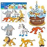 Leone Cake Topper, 12 Pezzi Topper Mini Figurine, Decorazioni Torta Leone, Cake Topper Mini Figurine, per Bambini e Baby Shower Forniture per la Decorazione della Torta della Festa di Compleanno