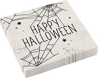 Amscan 9911670 - serwetki Happy Halloween pajęczyna siatka - 16 sztuk - 33 x 33 cm