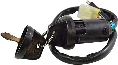 CUHAWUDBA Interruptor de Encendido de La Motocicleta El Interruptor de La Llave de Encendido Es Adecuado para 1999-2004 Trx400 Trx200 con 2 Teclas 5100-Hm8-000