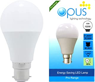 Opus Lighting Technology LED Globe Light Bulb, 15 W, Daylight