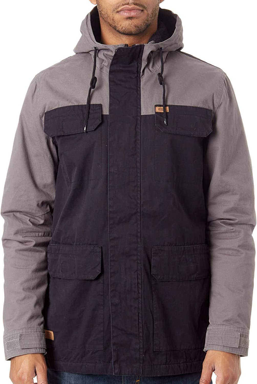 Globe Black Goodstock Blocked Parka Ii - Sherpa Lined Waterproof Jacket (M, Black)