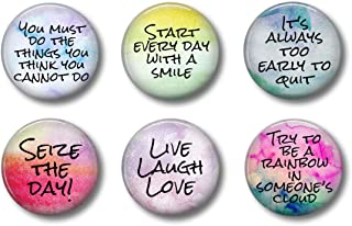Cute Locker Magnets For Teens - Inspirational Motivational Quotes - Fun School Supplies - Whiteboard Office or Fridge - Funny Magnet Gift Set (Inspirational)
