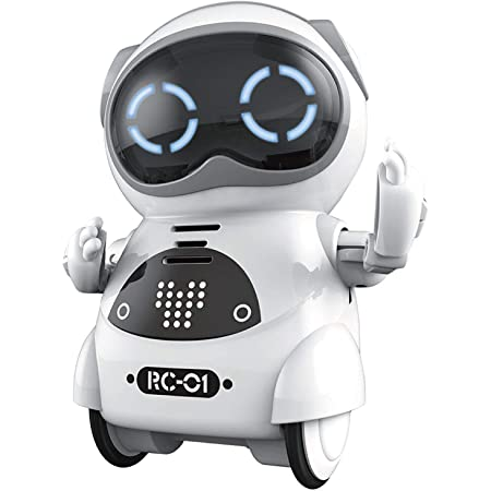 Goolrc Mini Pocket Robot For Kids With Interactive Dialogue Conversation Voice Recognition Singing And Dancing Electric Small Robot Toy Gift For Boys And Girls White Toys Games