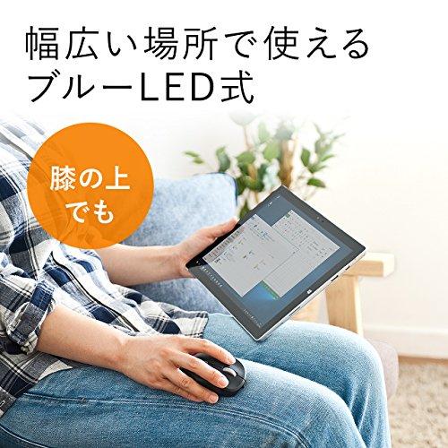 『サンワダイレクト Bluetoothマウス 超小型 充電式 Bluetooth4.0 ブルーLED レッド 400-MA074R』の6枚目の画像