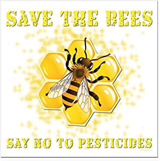 CafePress - Save The Bees Square Car Magnet 3