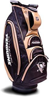 Team Golf NHL Victory Golf Cart Bag, 10-way Top with Integrated Dual Handle & External Putter Well, Cooler Pocket, Padded Strap, Umbrella Holder & Removable Rain Hood