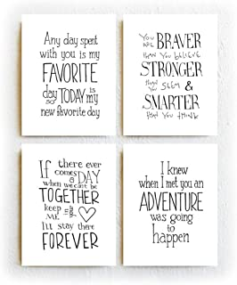 Winnie The Pooh Quotes Prints Set of 4 Black and White Typography Print on 8.5 x 11 inches Archival Matte Paper Unframed