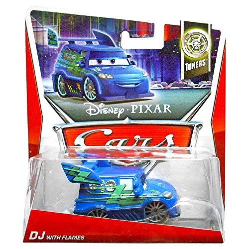 Mattel Disney Cars 2 DJ With Flames (Tuners, #3 of 10)