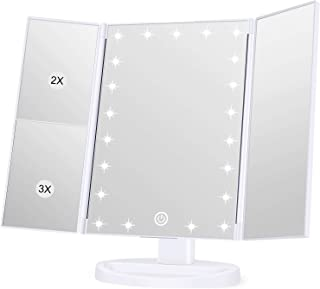 KOOLORBS Makeup 21 Led Vanity Mirror with Lights, 1x 2x 3x Magnification, Touch Screen Switch,...