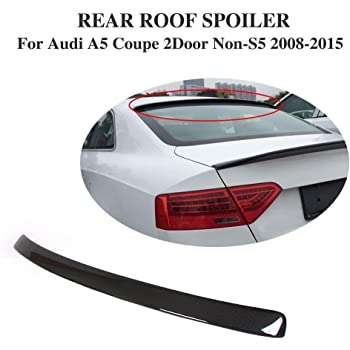 Amazon Com Jc Sportline Carbon Fiber Rear Roof Spoiler Fits Audi A3 Sportback 5 Doors 2014 2016 Automotive
