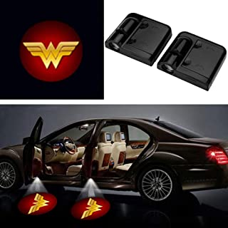 2Pcs Universal Car 3D Wireless Magnetic Car Door Step LED Welcome Logo Shadow Ghost Light Laser Projector Lamp No Drillin...