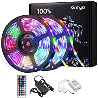 Gohyo 32.8-Foot LED Light Strip with 24-Key Remote