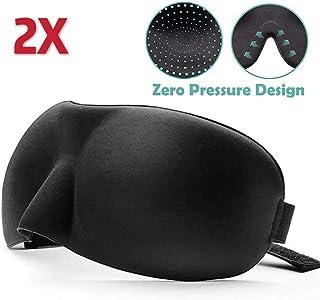 3D Memory Foam Eye Mask Blindfold Sleep Travel Shade Relax Cover Light Blinder Sleeping Aid Deep Orbital Design (2 Pack)