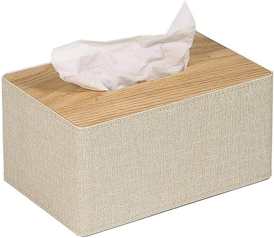 Tissues box cover Rectangular Synthetic Ring Napkin Max 65% OFF Leather for Safety and trust