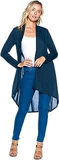 Modern Kiwi Solid Essential Long Cascading Cardigan (S-3XL)
