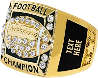 Crown Awards Fantasy Football Rings, Fantasy Football Championship Ring, Engraving Included Prime