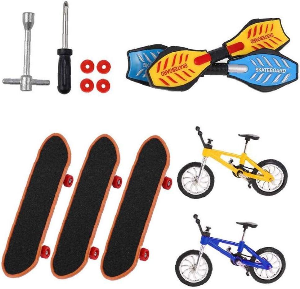 EElabper 13 Pieces Mini Translated Ranking TOP6 Finger Toys Skateboards Bike Set