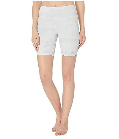 ALO High-Waist Vapor Shorts (White Camouflage) Women
