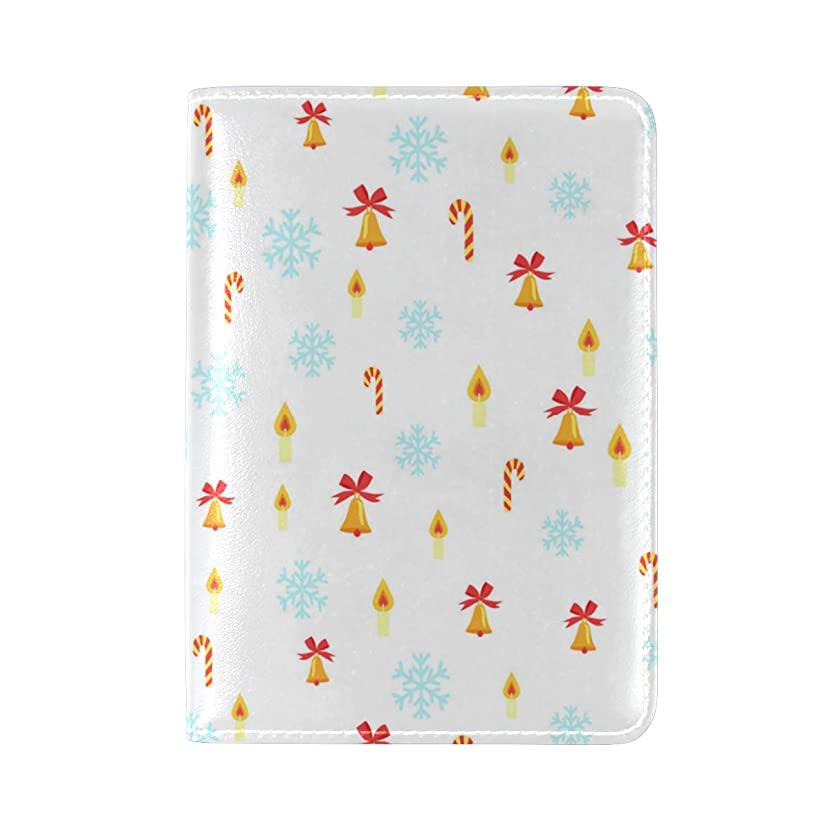 Christmas Tree White Snow Leather Passport Wallet for Passport Holder for Safe Trip durable Easy to Carry