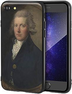 Thomas Gainsborough iPhone SE(2020)/iPhone 7/8用ケース/ファインアート携帯電話ケース/高解像度ジクレーレベルUV複製プリント、携帯電話カバー(ウィリアム・ピット)