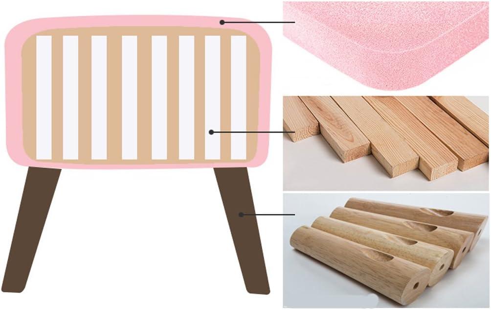 SLL- Tabouret en bois massif tabouret de canapé banc petit tabouret rond créatif Fauteuils et Chaises (Color : E) G