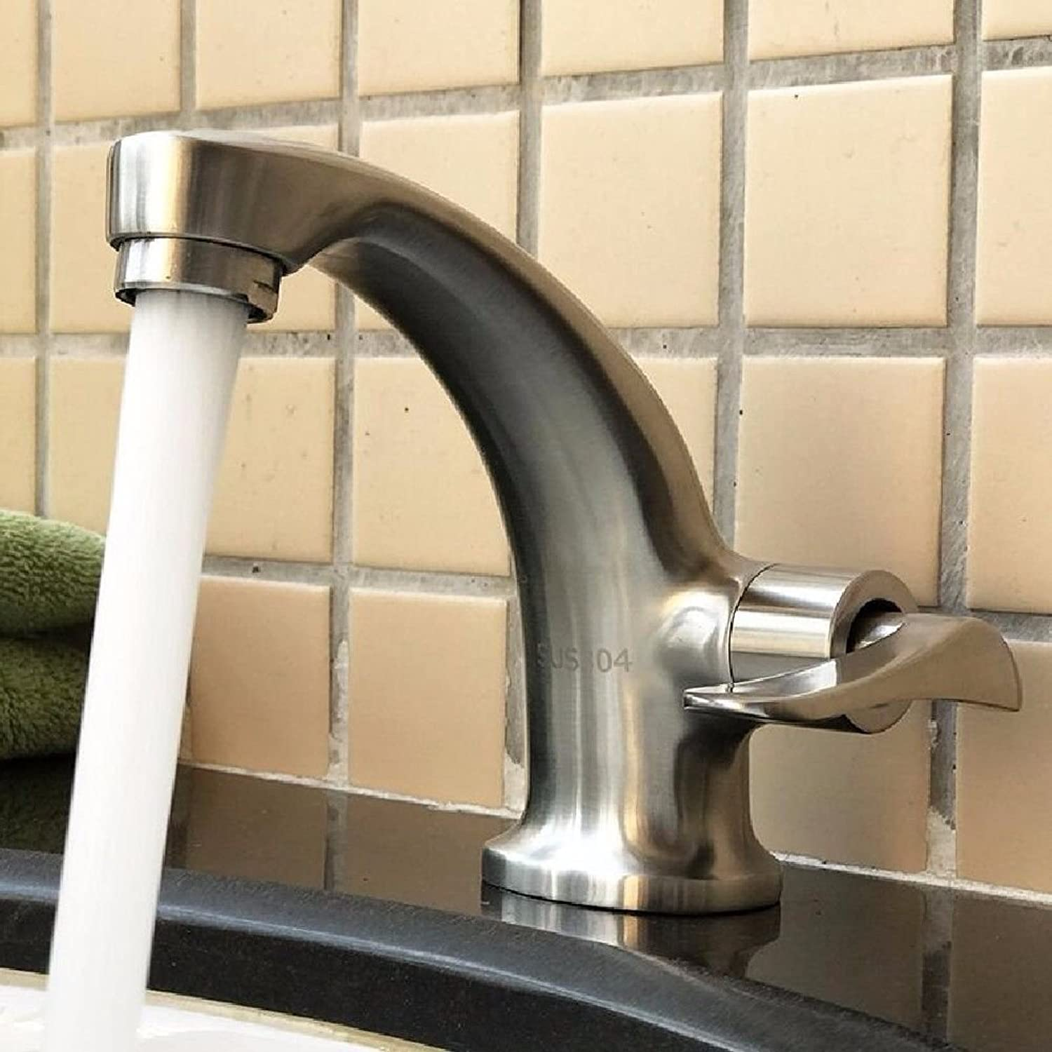 NewBorn Faucet Water Taps Hot And Cold Water Stainless Steel Single Cold Wash