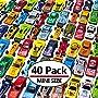 MAPIXO 40 PC Mini Race Car Toy Die Cast Plastic, Model Vehicle Set Gift for Birthday...