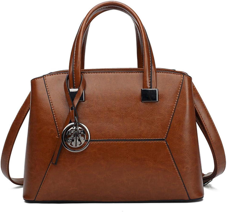 Handtasche weibliche europäische und amerikanische Trend PU-Handtaschen PU-Handtaschen PU-Handtaschen Mode Retro Schulter Messenger Bag Damen Aktentasche, braun B07PPVLF6G  Ausreichende Versorgung bdf364