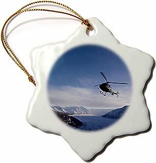 3dRose ORN_87618_1 Alaska, Matanuska Glacier, Chugach Range, Helicopter US02 PSO0605 Paul Souders Snowflake Ornament, Porcelain, 3-Inch