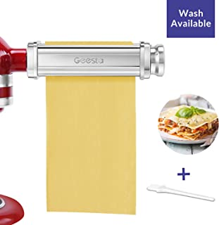 Pasta Roller Sheets Attachment for Kitchenaid Mixer Homemade Tools Stainless Steel Fresh Pasta perfect for Ravioli, Dumplings, Lasagna, Tortilla
