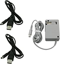 Debaser Electronics AC Wall Plug Charger and 2 USB Power Adapter Cable for Nintendo 3DS DSi XL