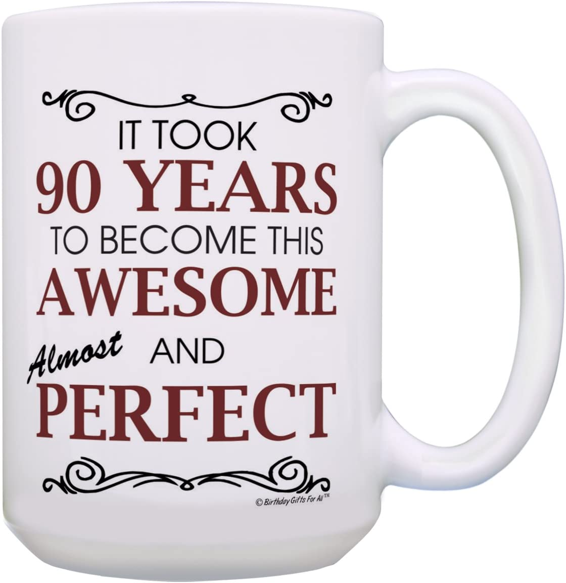 90th Birthday Gifts for All G 90 Choice Ranking TOP10 Mug Awesome Years