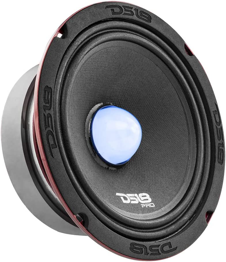 Midrange 250W RMS 4 Ohms 500W Max Premium Quality Audio Door Speakers for Car or Truck Stereo Sound System DS18 PRO-X6.4BMRGB Loudspeaker with RGB Light Bullet 1 Speaker 6.5