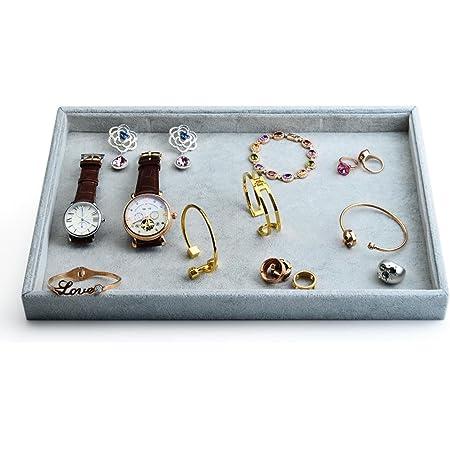 30 Grids Velvet Tray for Rings Cufflinks Earrings Bracelet Jewelry Display