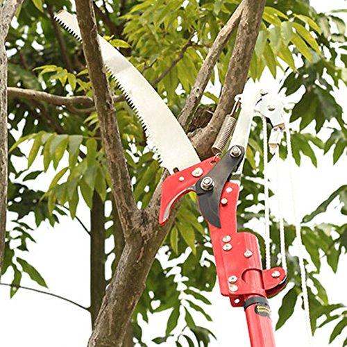 Haute qualité deux poulies à haute altitude d'élagage Cisailles à scier High-shear jardinage scies (ciseaux + Scie + Corde, sans barre)