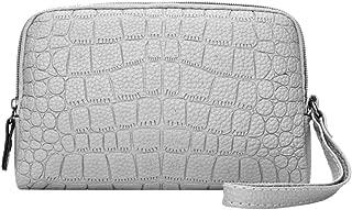 Everpert Women Pu Leather Phone Clutch Handbag Zipper Coin Wallet Wristlet/Bean Red