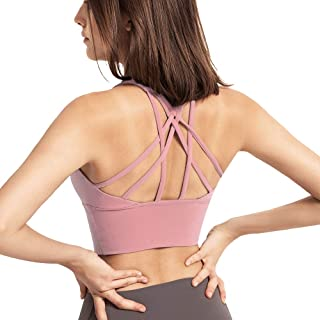 Sports Bras for Women High Impact Workout Tank Tops Cropped Strappy Yoga Cami