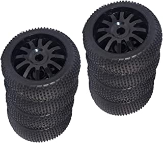 Hellery 4pcs 1//8 RC Rock Crawler Car Tires Tyres For Louise TRAXXAS HPI Savage HSP