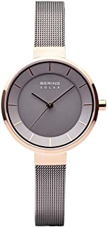BERING Women's Analogue Solar Powered Watch with Stainless Steel Strap 14631-369