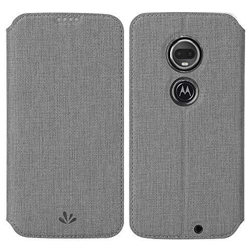 Eastcoo Kompatibel mit Motorola Moto G7 Power Hülle PU Leder Flip Hülle Tasche Cover Schutzhülle mit [Standfunktion][Magnetic Closure][Wallet]für Moto G7 Power Smartphone (Moto G7 Power, Grau)