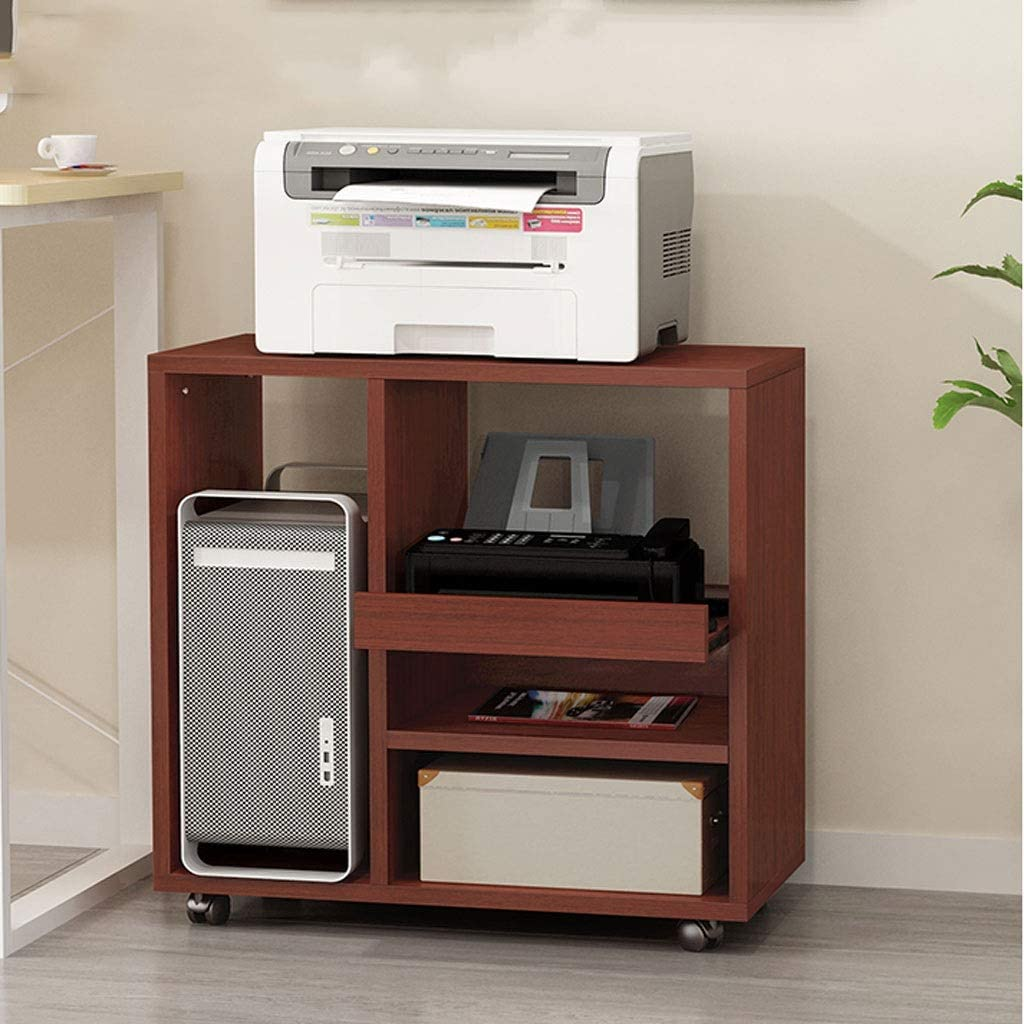 Printer Stand Max 73% OFF Shelf Wooden San Francisco Mall Rack Household Stor Removable
