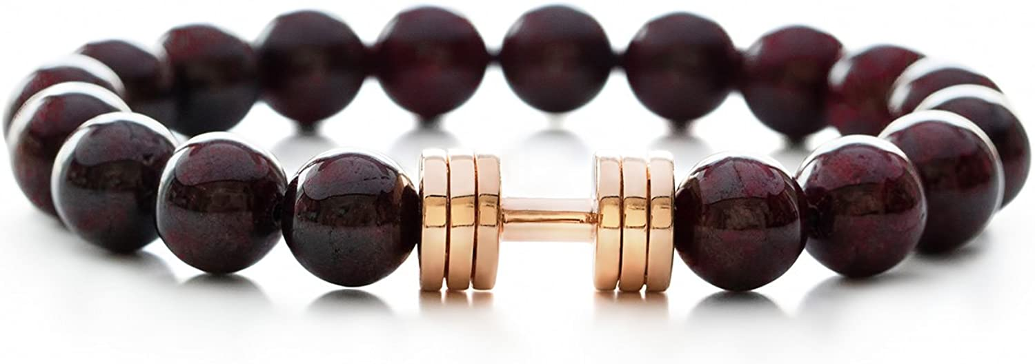 Special price Garnet Dumbbell Bracelet Rose Gold Gym Beauty products Fitness Plated Jewelry Be