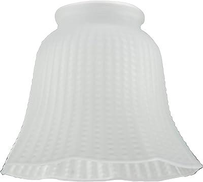 Westinghouse 8703840 Abat-jour en cloche nervurée mate Verre blanc