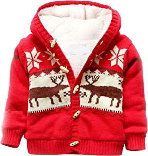 Baby/Toddler/Boys Striped Sweater Cardigan 100% Cotton Girls Winter Jacket Outwear