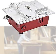 HTDHS Mini Sierra de Mesa de Escritorio, máquina de Corte eléctrica Puleradora de pulidor, Ajuste de Siete velocidades, Corte de múltiples ángulos para Tablero de Bricolaje/PCB/Metal de plástico p