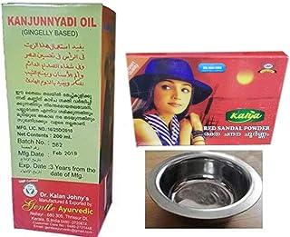 Kalan Johny's Gentle Ayurvedic Kanjunnyadi Gingelly Based 200ml, With Free Kalya Red Sandal Powder - Skin Care Powder 25 G...