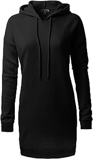 Olivia 设计女式休闲宽松长袖超大束腰运动衫 Ihow005 Black X-Large