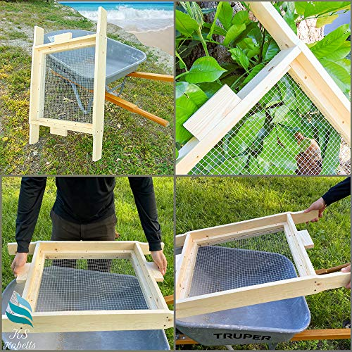 KS Kabells-Sifter for Garden- Compost Screen Sifter- Sifting for Soil- Wood Dirt Sifter- Garden Sifter for use in Wheelbarrow and by Hands-Made in USA 100%