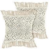 LIVALAYA Macrame Pillow Covers – 17...